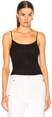 Lemaire Second Skin Tank Top in Black | FWRD