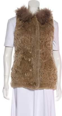 Diane von Furstenberg Minkie Fur Vest