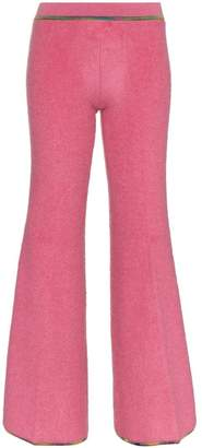 Missoni low-waisted wool blend flare trousers