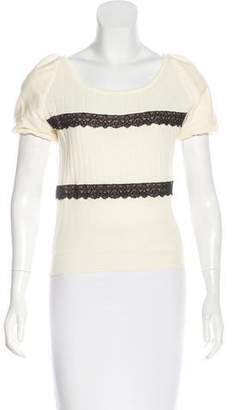 RED Valentino Short Sleeve Knit Sweater