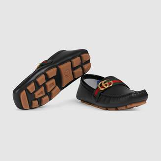 Gucci Children's leather driver with Double G