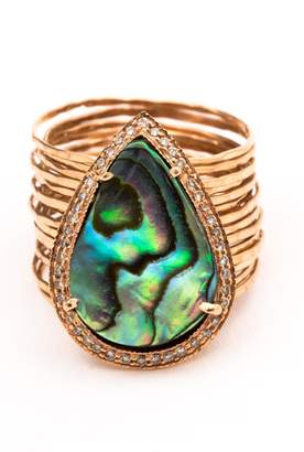 Jacquie Aiche Abalone Waif Ring