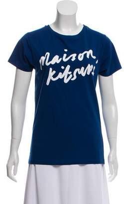 MAISON KITSUNÉ Graphic Print Knit Top