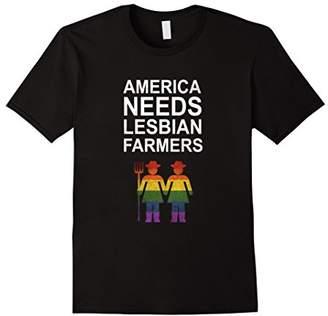 America Needs Lesbian Farmers T Shirt LGBT Equality Women