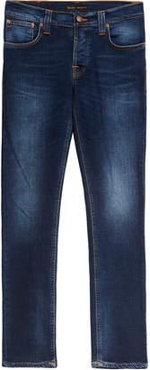 Nudie Jeans Grim Tim Slim Crosshatch Worn In Jeans