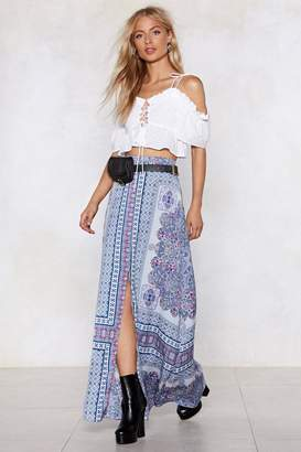 Nasty Gal The Flow Down Printed Skirt