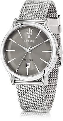 Epoca Maserati Gray Dial Stainless Steel Men's Watch