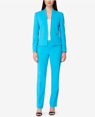 Tahari Asl Karina Zip-Pocket Pantsuit $290 thestylecure.com