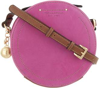 Tignanello Vintage Leather Circle Crossbody Handbag -Varese