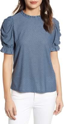 Gibson x International Women's Day Rebecca Clip Dot Ruffle Sleeve Blouse