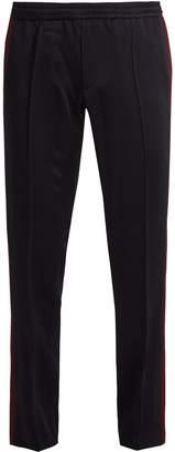 Valentino Side-stripe satin-crepe track pants