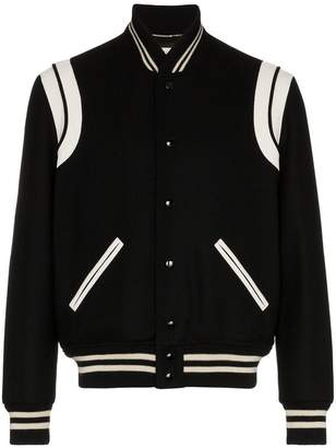 Saint Laurent Teddy wool bomber jacket