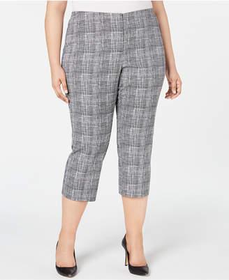 Alfani Plus Size Printed Capri Pants