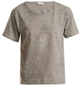 Saint Laurent Classic Crew Neck T Shirt - Womens - Light Grey