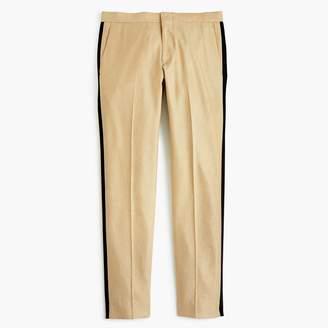 J.Crew Ludlow Slim-fit tuxedo pant in linen-silk