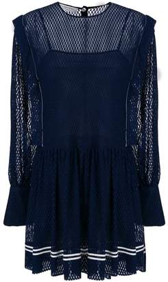 Philosophy di Lorenzo Serafini mesh contrast dress