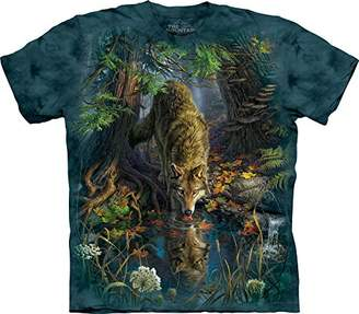 The Mountain Men's Enchanted Wolf Pool T-Shirt