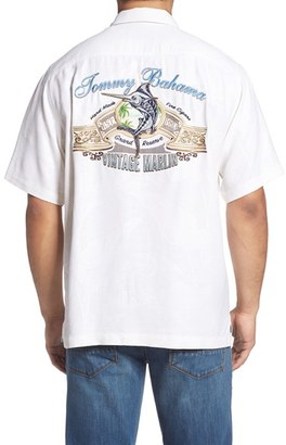 Tommy Bahama Vintage Marlin Classic Fit Embroidered Silk Camp Shirt (Big & Tall) $178 thestylecure.com