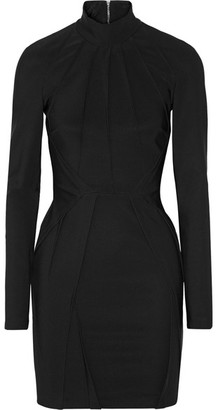Mugler - Pintucked Stretch-cady Mini Dress - Black $1,700 thestylecure.com