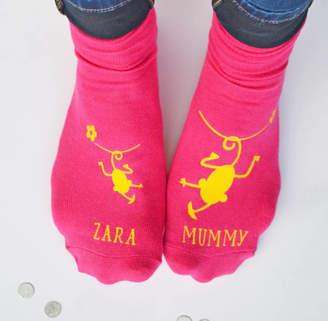 Cheeky Monkey Solesmith Personalised Mummy Socks