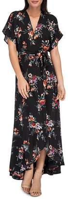 Bobeau B Collection by Wren Floral Wrap Maxi Dress