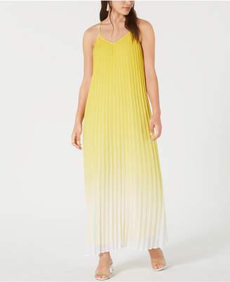 Bar III Pleated Ombre Maxi Dress