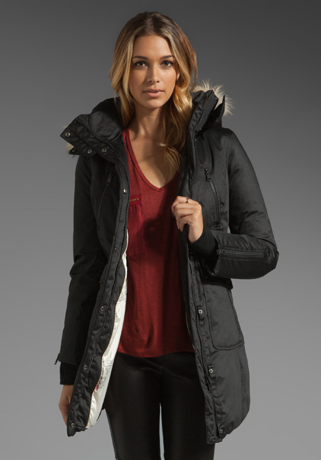 Soia & Kyo Riley Solid Down Removable Hood Jacket