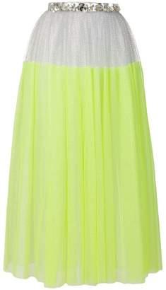 DELPOZO contrast flared midi skirt