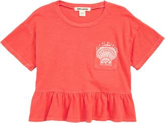 Billabong Sand and Sea Peplum Tee