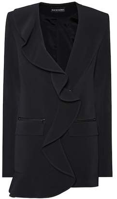 David Koma Ruffled cady blazer