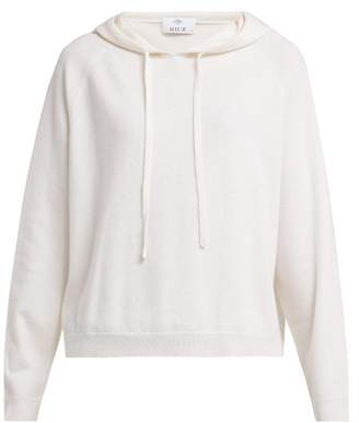 Allude Hooded Wool And Cashmere Blend Sweater - Womens - Cream