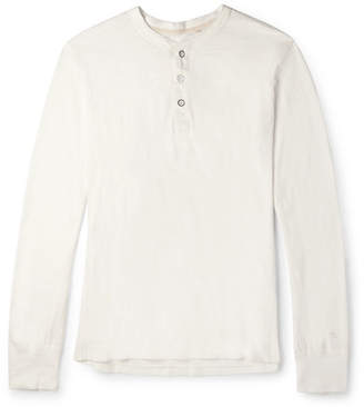 Rag & Bone Cotton-Jersey Henley T-Shirt - Neutral