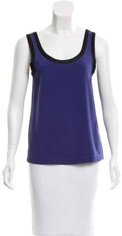 Marc by Marc Jacobs Two-Tone Mesh Top