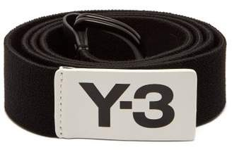 Y-3 Y 3 Logo Stretch Webbing Belt - Mens - Black