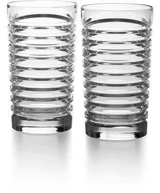 Ralph Lauren Metropolis Set of 2 Lead Crystal Highball Glasses