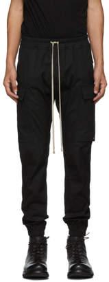 Rick Owens Black Cargo Jogger Pants
