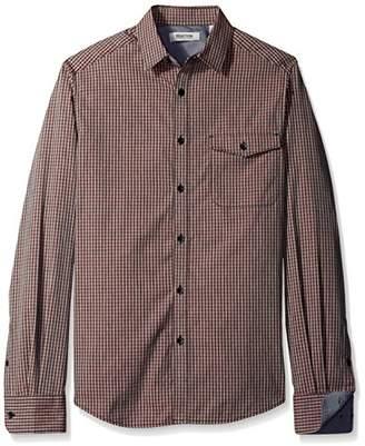Kenneth Cole Reaction Men's Long Sleeve Flap Pocket Check