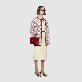 Gucci Tweed dress with floral applique