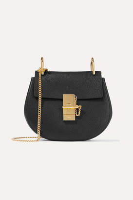 Chloé Drew Mini Textured-leather Shoulder Bag - Black