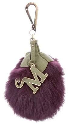Mr & Mrs Italy Fox Fur Bag Charm w/ Tags
