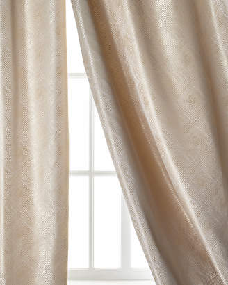 """Dian Austin Couture Home Polygon Curtain, Taupe, 108"""""""