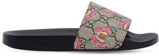 Gucci Gg & Butterfly Rubber Slide Sandals
