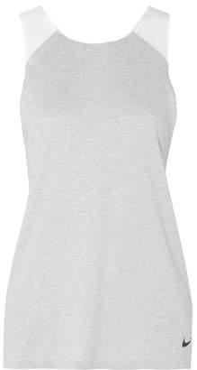 Nike Ice Flash Breathe Dri-fit Jersey, Stretch And Mesh Tank - Light gray