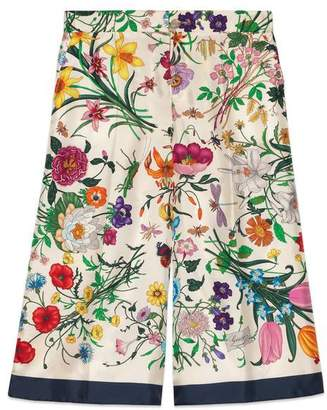 Gucci Flora silk twill pajama pant