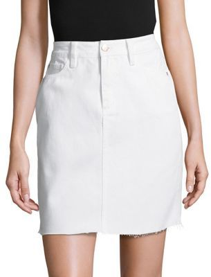 BUFFALO David Bitton Frayed Cotton Skirt