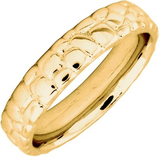 Co Simply Stacks Sterling 18K YellowGold-Plated Cobble 4.25mmRing