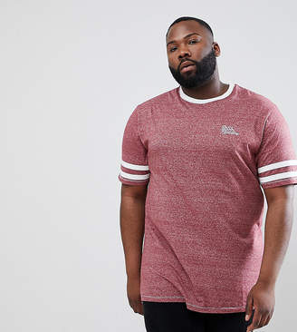 Duke King Size T-Shirt With Arm Stripe In Red