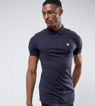 Le Breve TALL Curved Hem Polo with Back Panelling
