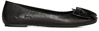 Bolo Ameline Bow-Embellished Leather Ballet Flats