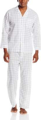Geoffrey Beene Men's Long Sleeve Broadcloth Pajama Set, Plaid